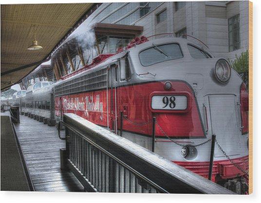 Branson Train Wood Print by Gary Gunderson