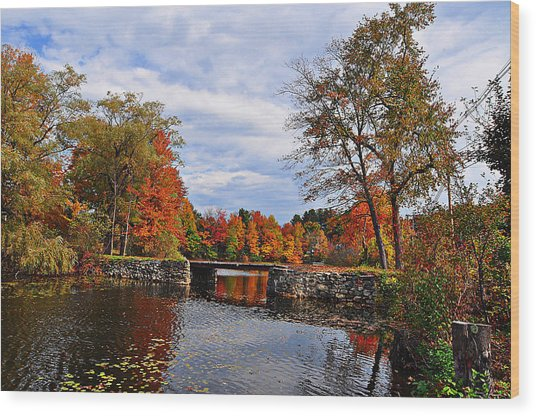 Brant Lake Bridge  Wood Print
