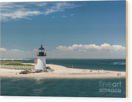Brant Point Light Nantucket Wood Print