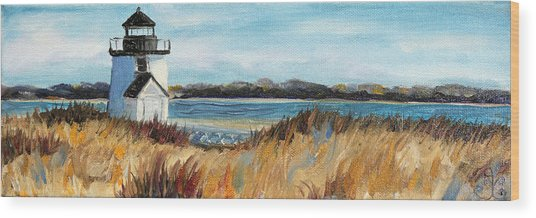 Brant Point Light Wood Print