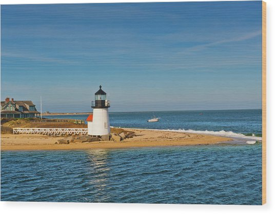 Brant Point Lighthouse Nantucket Wood Print
