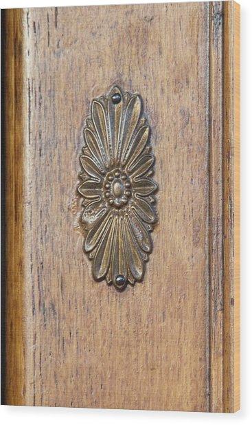 Brass Medallion Wood Print by Michael Flood