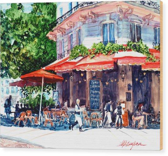 Brasserie Isle St. Louis Wood Print
