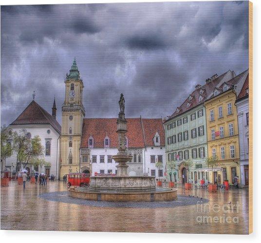 Bratislava Old Town Hall Wood Print