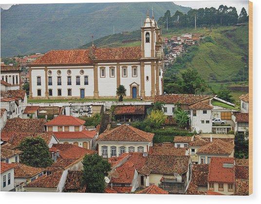 Brazil, Minas Gerais, Ouro Preto, View Wood Print by Anthony Asael