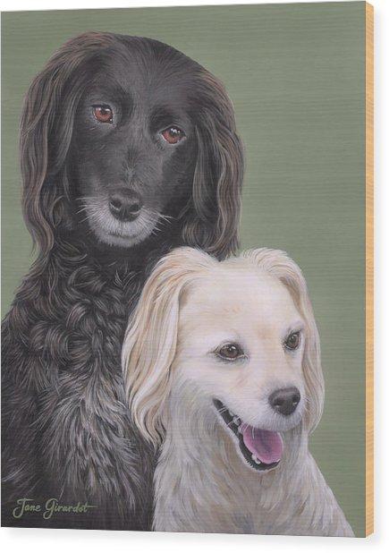 Brea And Randy Wood Print
