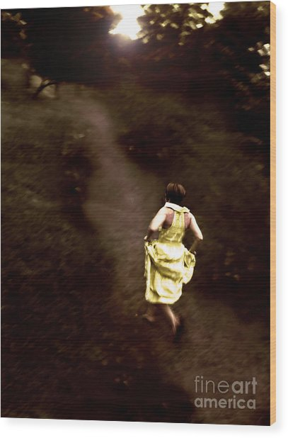 Wood Print featuring the photograph Break Away  by Angelique Bowman