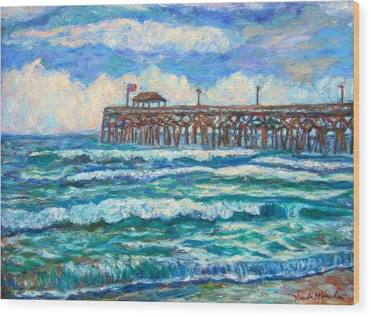 Breakers At Pawleys Island Wood Print
