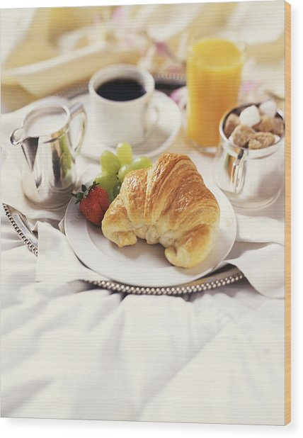 Breakfast In Bed Wood Print by Armstrong Studios