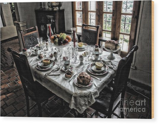 Downton Abbey Breakfast Wood Print