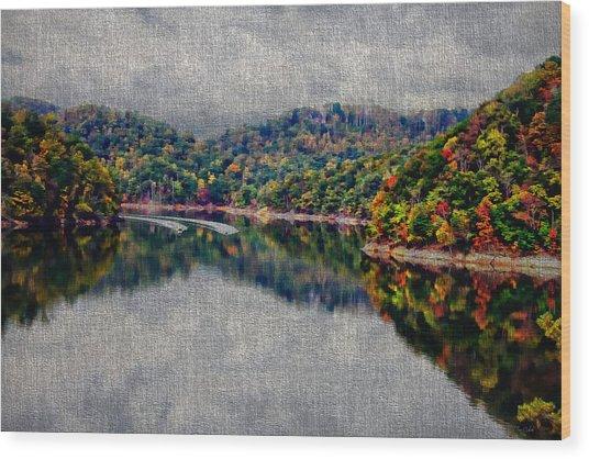 Breaking The Mirrow Wood Print