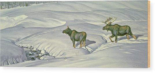 Breaking Trail Wood Print