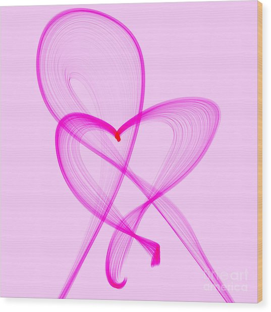 Breast Cancer Awareness . Love Wood Print