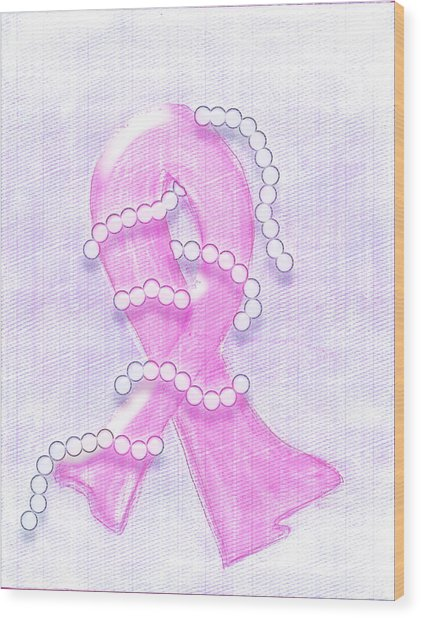 Breast Cancer Awareness Wood Print by Melissa Osborne
