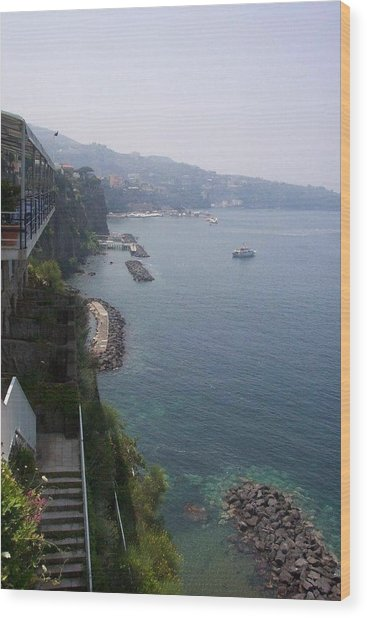 Breathtaking Amalfi Coast In Italy Wood Print
