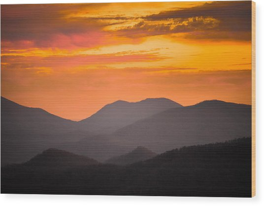 Breathtaking Blue Ridge Sunset 3 Wood Print