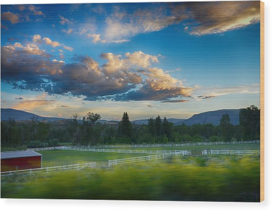 Breathtaking Colorado Sunset 1 Wood Print