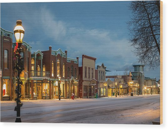 Breckenridge Main Street Wood Print