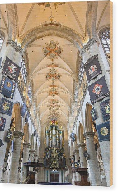 Breda Cathedral Wood Print