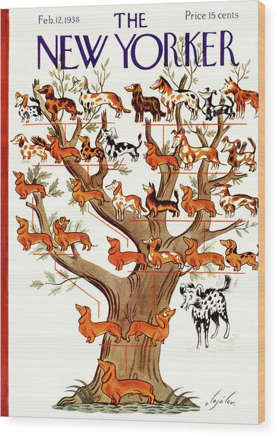Breeds Tree Wood Print