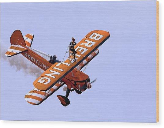 Breitling Wingwalker Wood Print