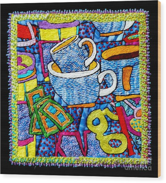 Brew And U Wood Print by Susan Sorrell