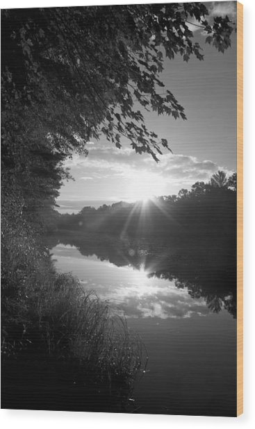 Brf River Wood Print