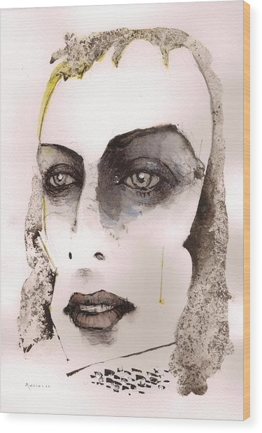 Brian Eno Wood Print