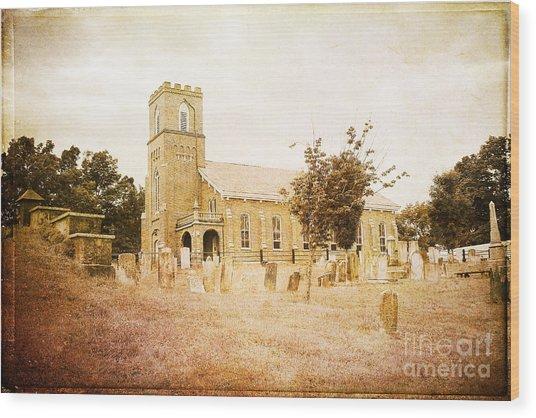 Brick Church In Montgomery Wood Print