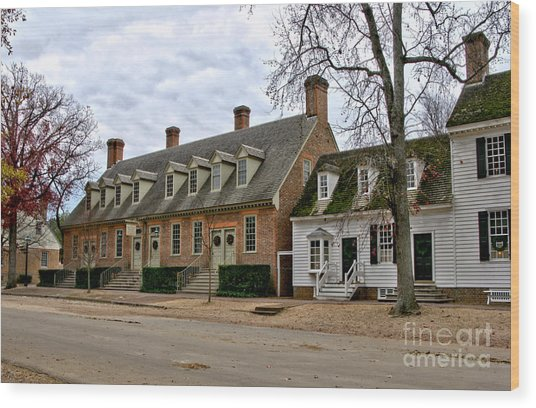 Brick House Tavern In Williamsburg Wood Print