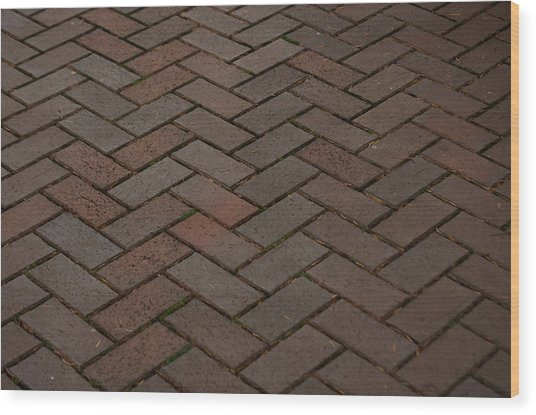 Brick Pattern Wood Print