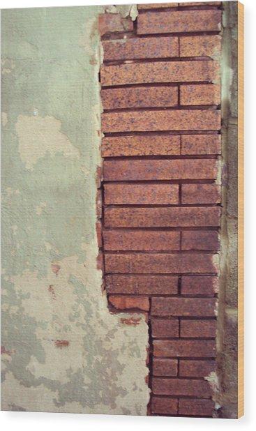 Brick Wall Wood Print by Cynthia Harvey