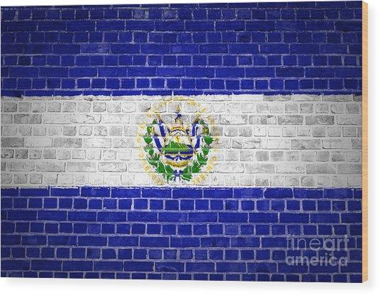 Brick Wall El Salvador Wood Print