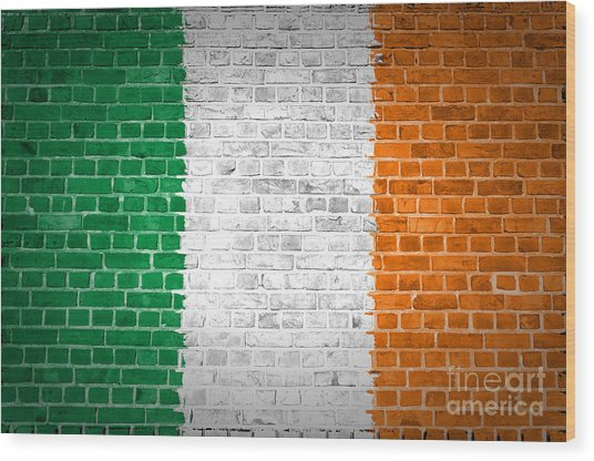 Brick Wall Ireland Wood Print