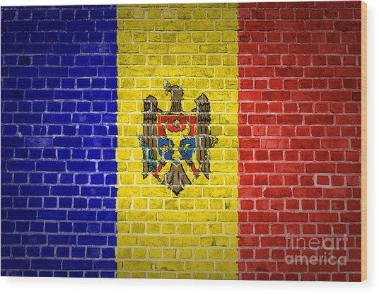 Brick Wall Moldova Wood Print