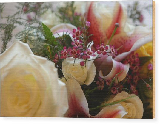 Bridal Flowers Wood Print
