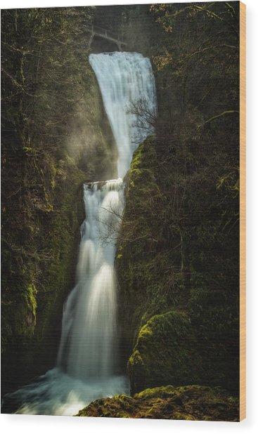 Bridal Veil Falls Wood Print by Joe Hudspeth