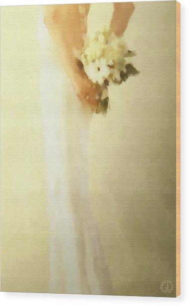 Bride Wood Print by Gun Legler