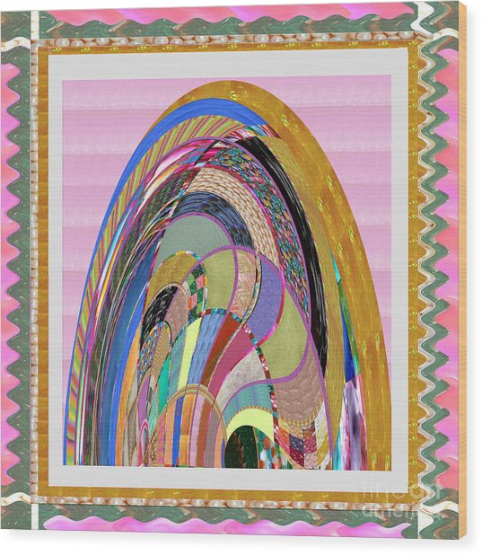 Bride In Layers Of Veils Accidental Discovery From Graphic Abstracts Made From Crystal Healing Stone Wood Print