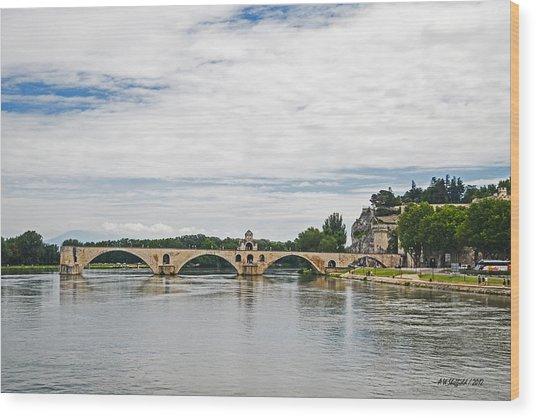 Bridge At Avignon Wood Print