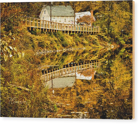 Bridge At C'ville Wood Print