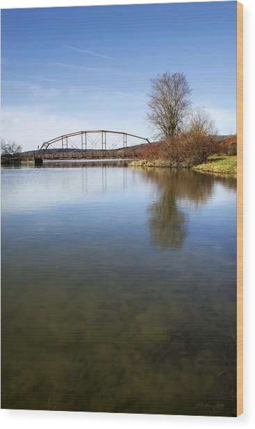 Wood Print featuring the photograph Bridge At Upper Lisle by Christina Rollo