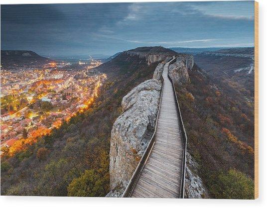 Bridge Between Epochs Wood Print