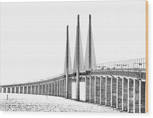 Bridge Connecting The Countries Wood Print by Kim Lessel