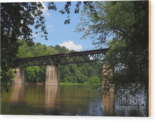 Bridge Crossing The Potomac River Wood Print