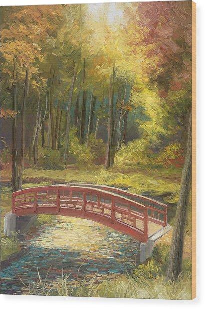 Bridge Wood Print by Lucie Bilodeau