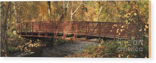 Bridge On Big Chico Creek Wood Print