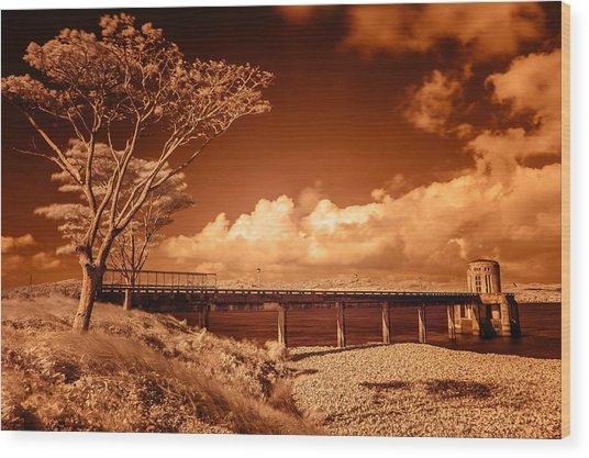 Bridge On The Lake Wood Print