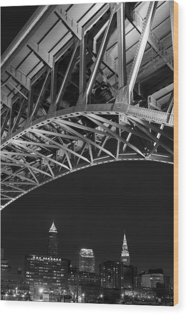 Bridge Over Cleveland  Wood Print
