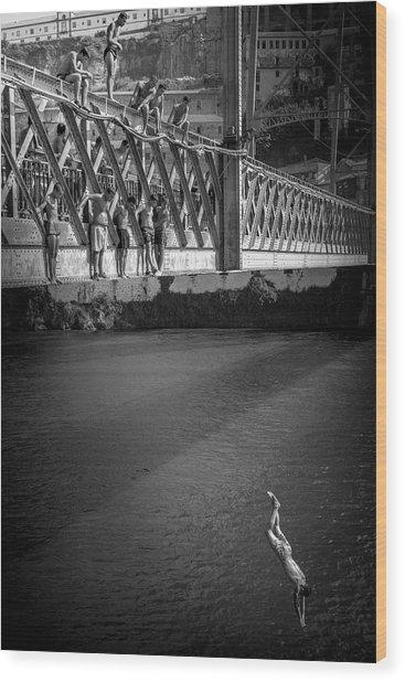 Bridge Over Douro - Luis I Wood Print